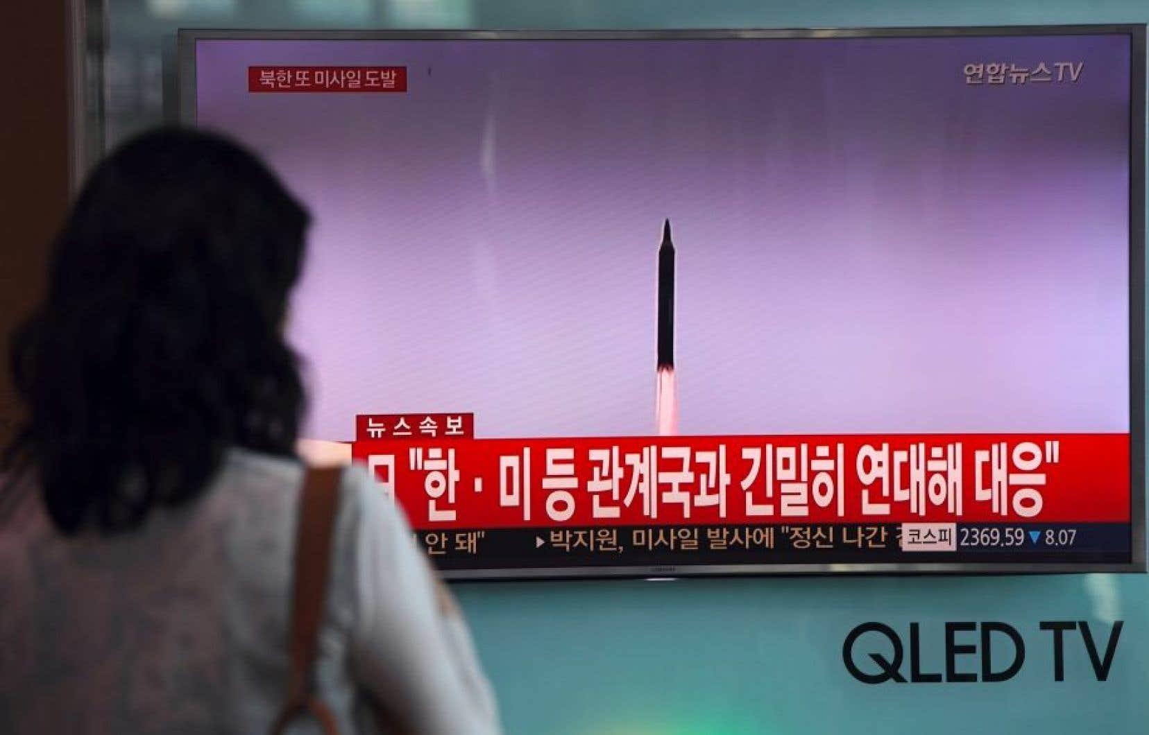 La Corée du Nord a procédé ces derniers mois à plusieurs lancements de missiles.
