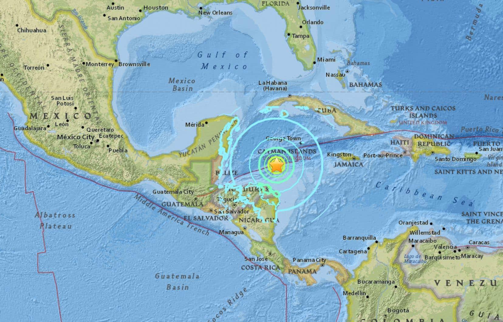 Le séisme s'est produit au large du Honduras.