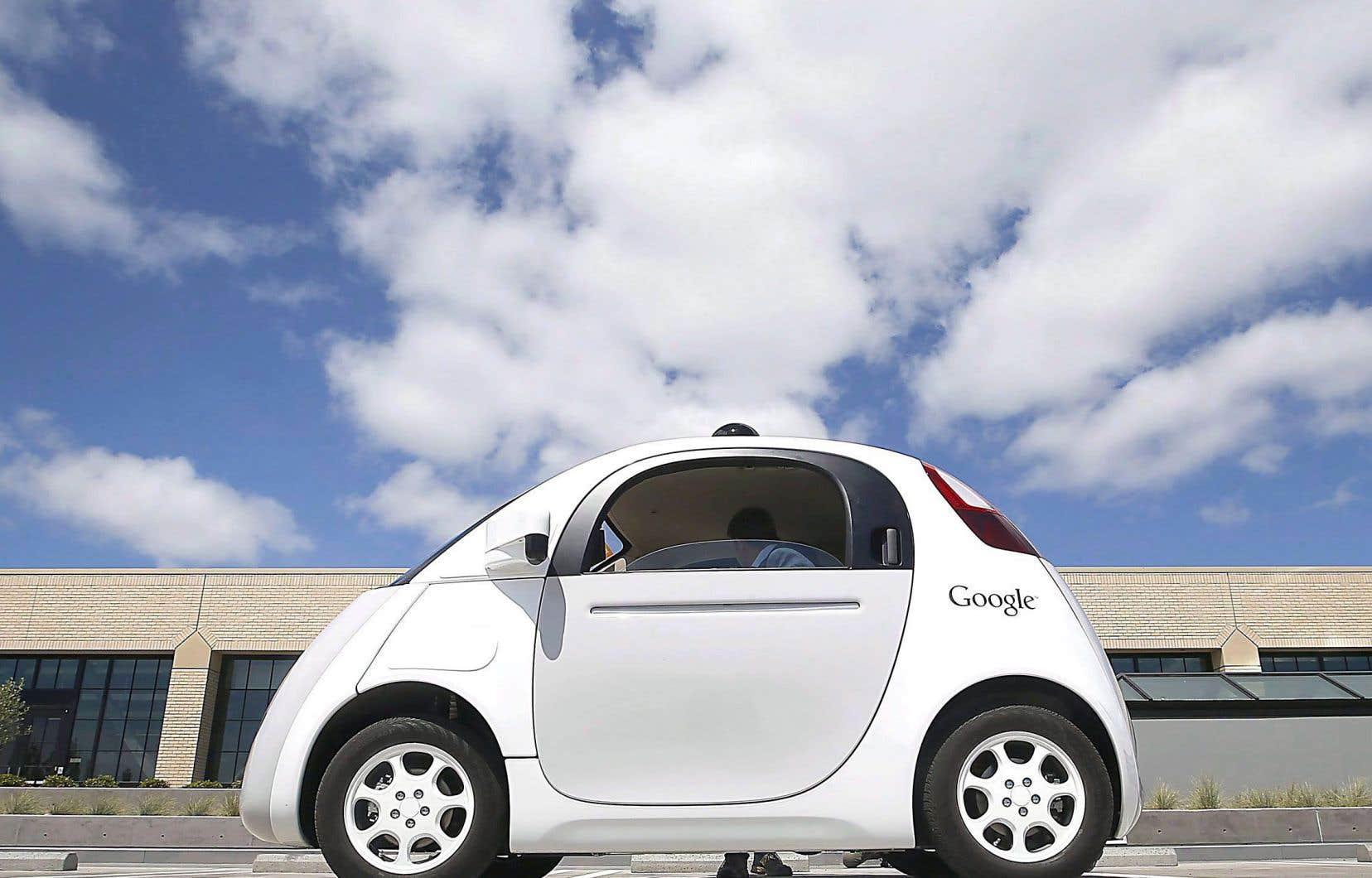 Un prototype de voiture autonome de Google