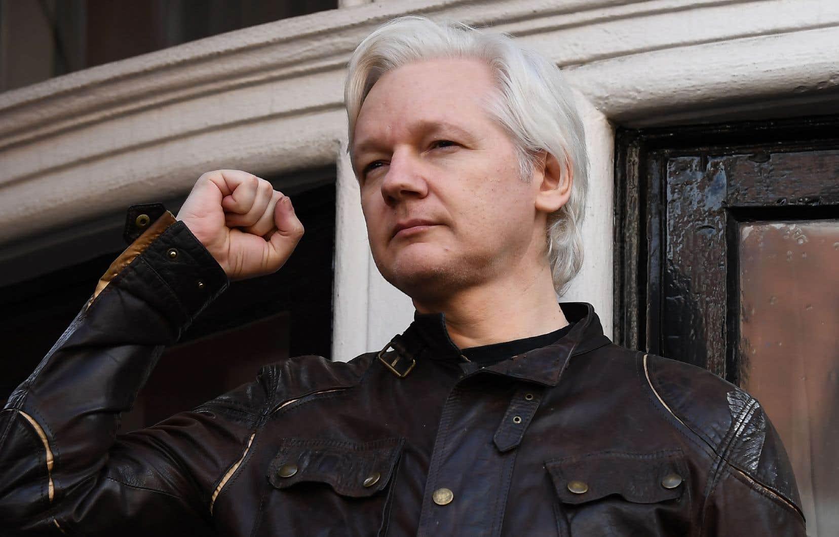 Le fondateur de WikiLeaks, Julian Assange, se terre depuis plus de cinq ans dans l'ambassade équatorienne à Londres.