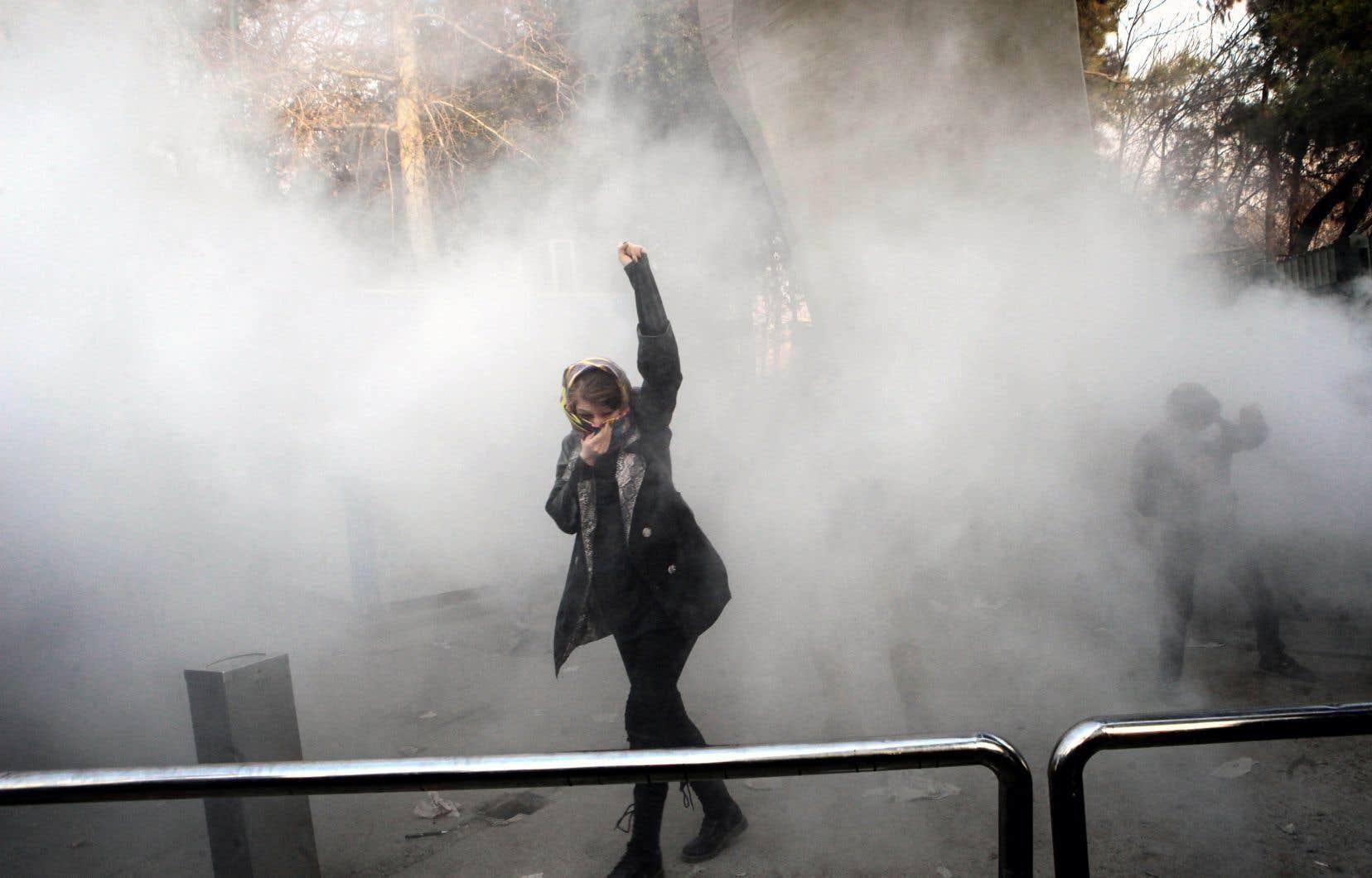 Le 30décembre dernier, sur le campus de l'Université de Téhéran, une manifestation s'est déclenchée pour protester contre la hausse du prix des denrées.