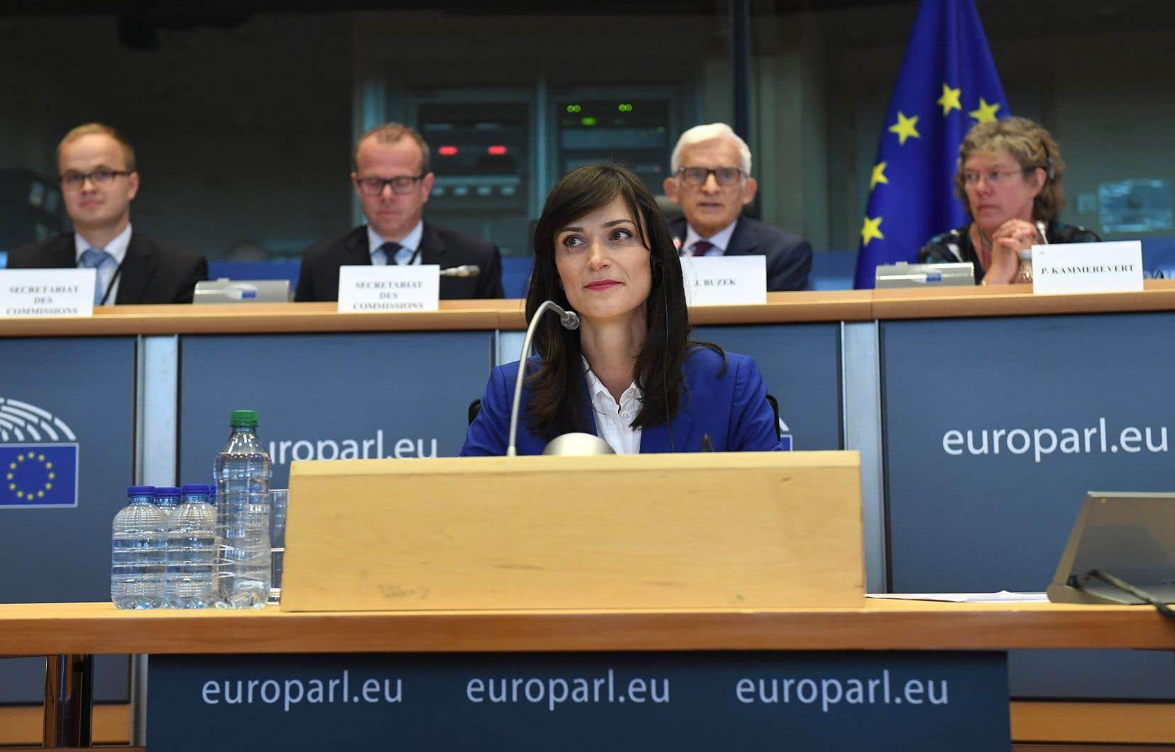 La commissaire européenne à l'Économie et à la Société numériques, Mariya Gabriel