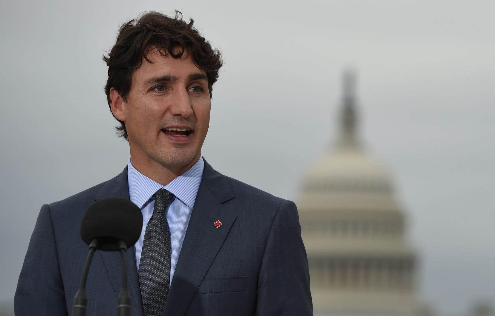 Le premier ministre canadien, Justin Trudeau, à Washington