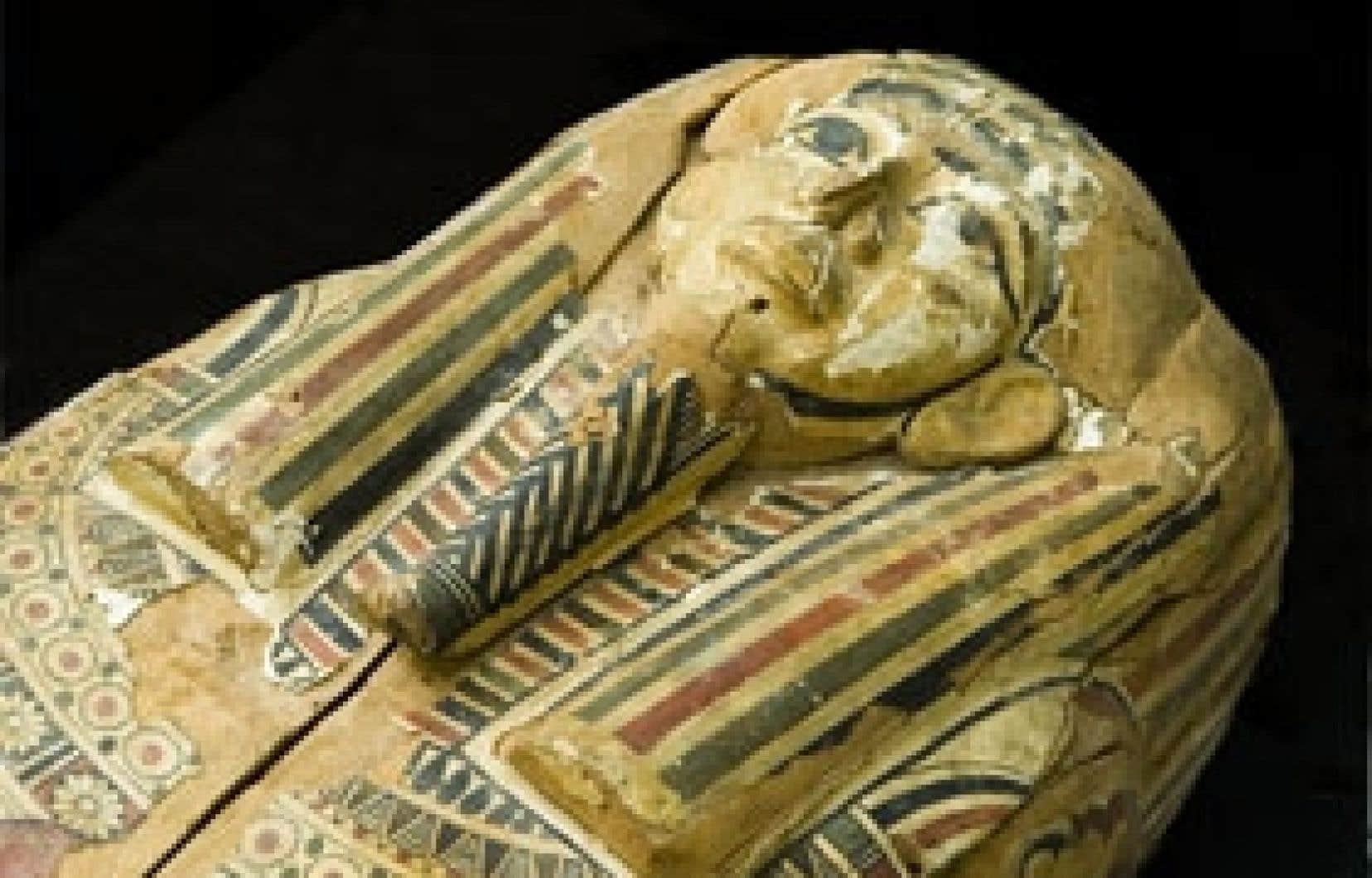 L'antiquité date de la 26e dynastie, soit d'environ 2600 ans. Il s'agit d'une femme de 65 ans momifiée comme le veut la coutume. Photo: Steven Darby