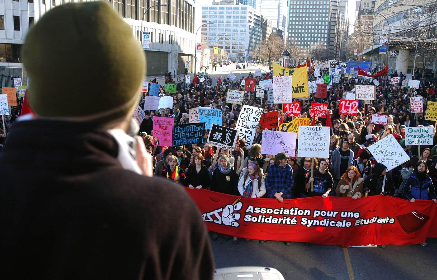 Cette association considérée comme la plus radicale du mouvement étudiant a été aux premières loges des manifestations du printemps 2012.