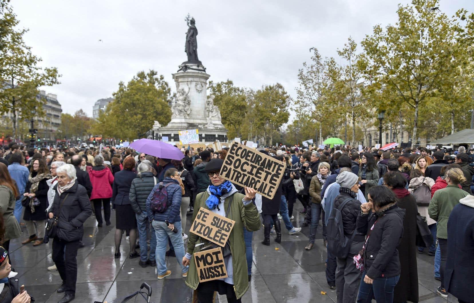 Manifestation contre la violence sexuelle à la place de la République, à Paris, le 29 octobre dernier