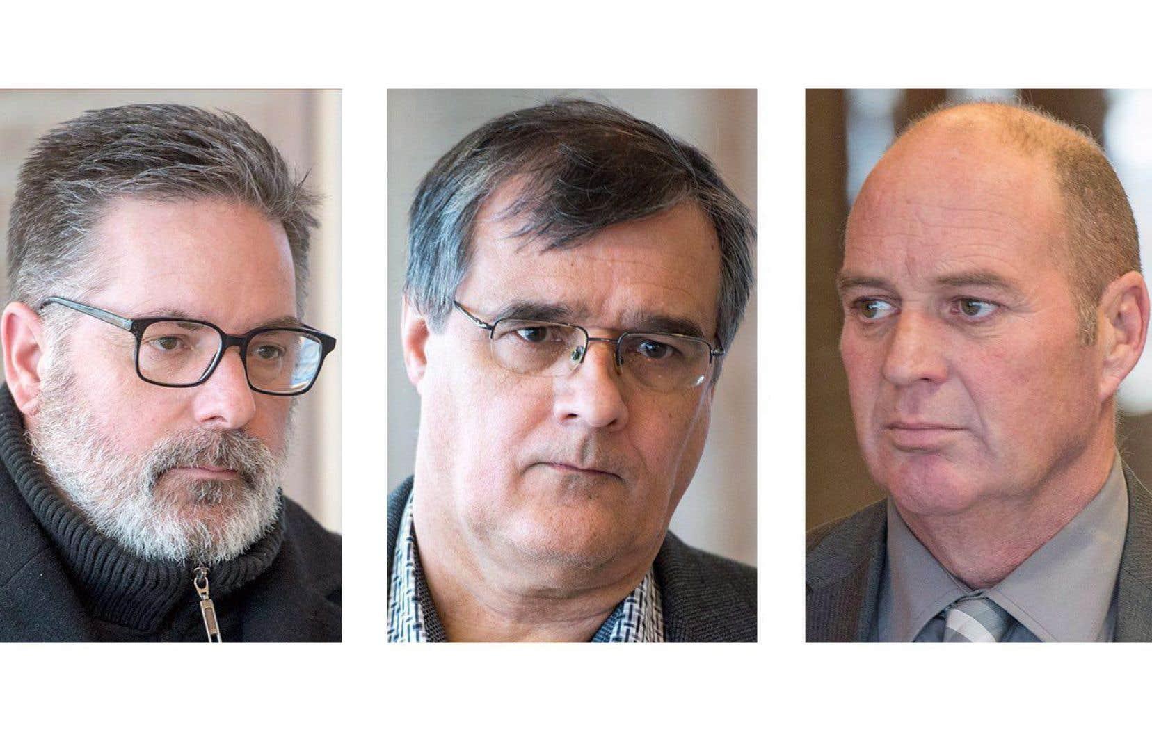 Les trois accusés dans cette affaire: le directeur des opérations de la MMA au Québec, Jean Demaître, le contrôleur ferroviaire Richard Labrie, et le chef de train Thomas Harding.