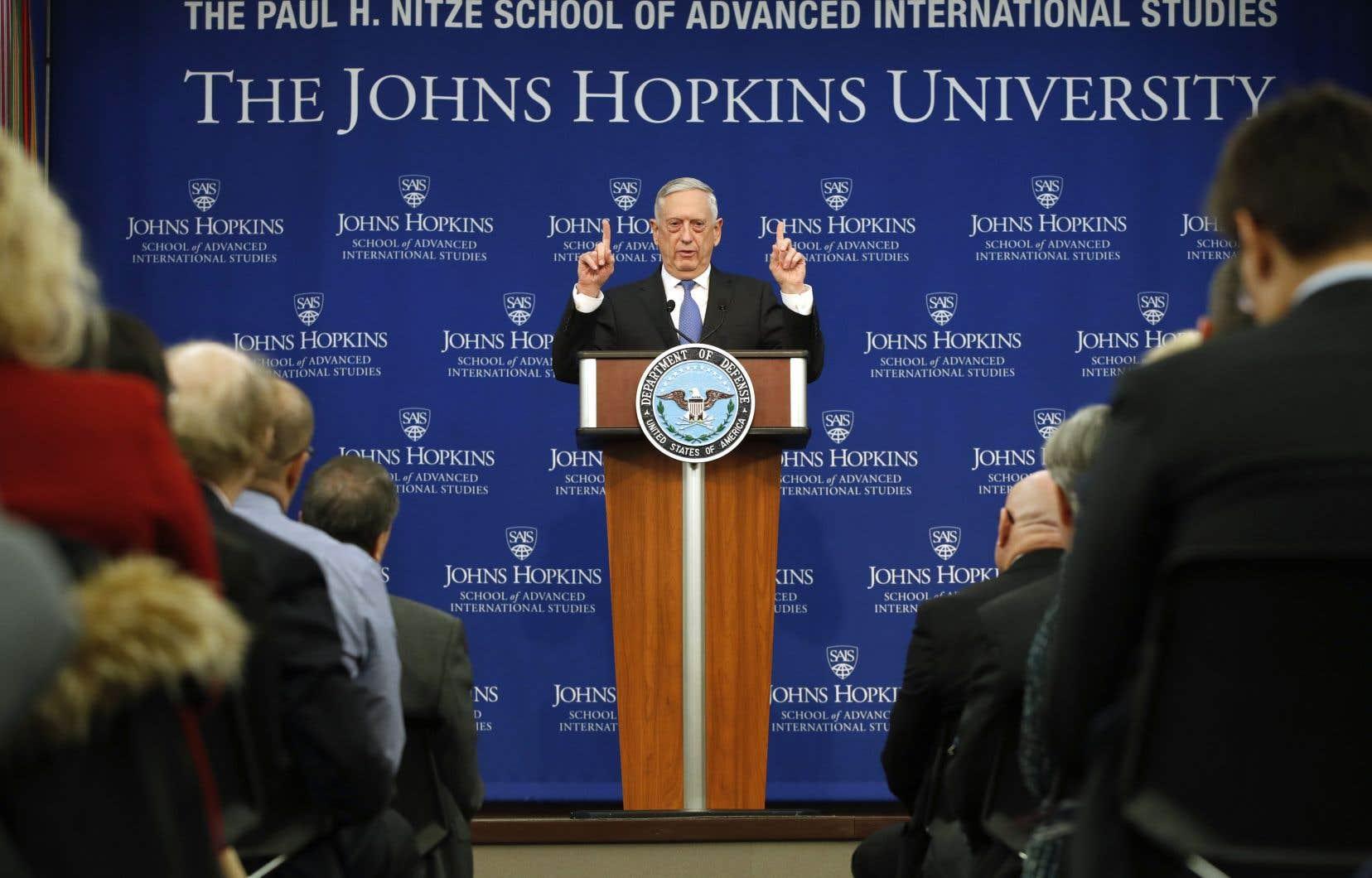 Jim Mattis,le ministre américain de la Défense.