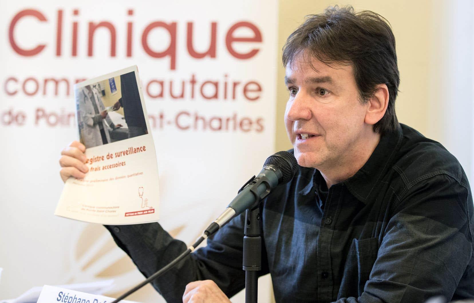 Les ophtalmologistes semblent avoir trouvé une autre manière de générer des revenus, selon Stéphane Defoy, de la clinique de Pointe-Saint-Charles.