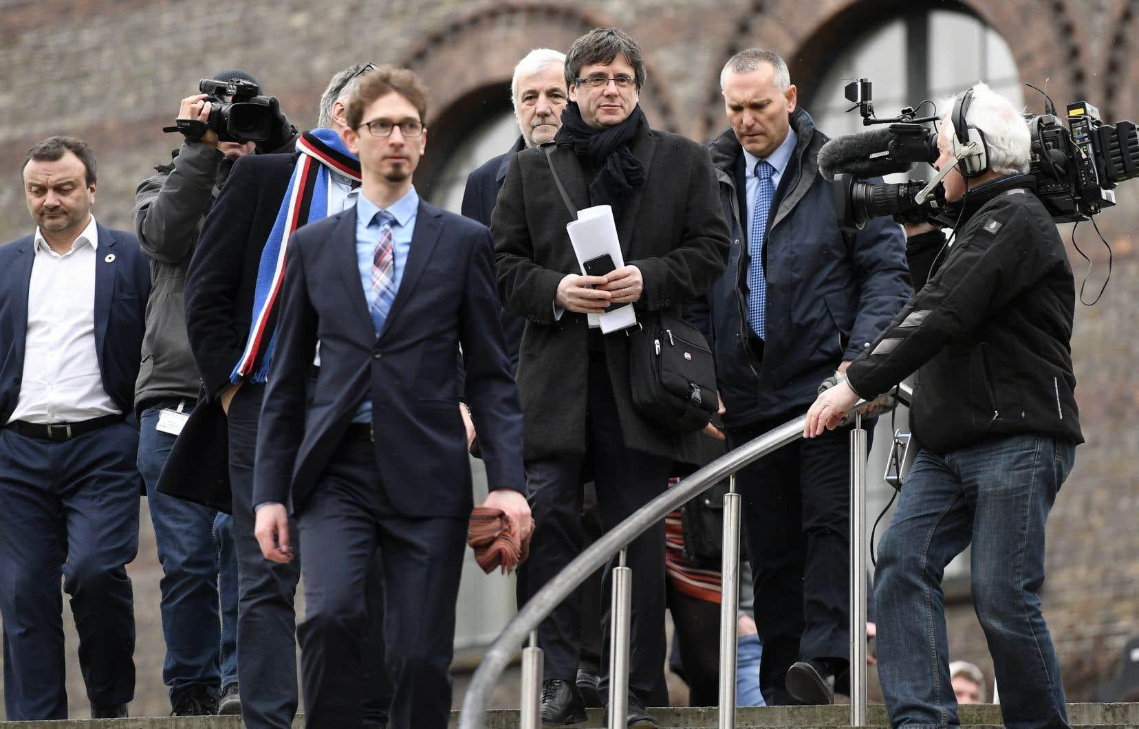 À l'Université de Copenhague, où il participait à un colloque sur la Catalogne, Carles Puigdemont a appelé au respect du processus démocratique.