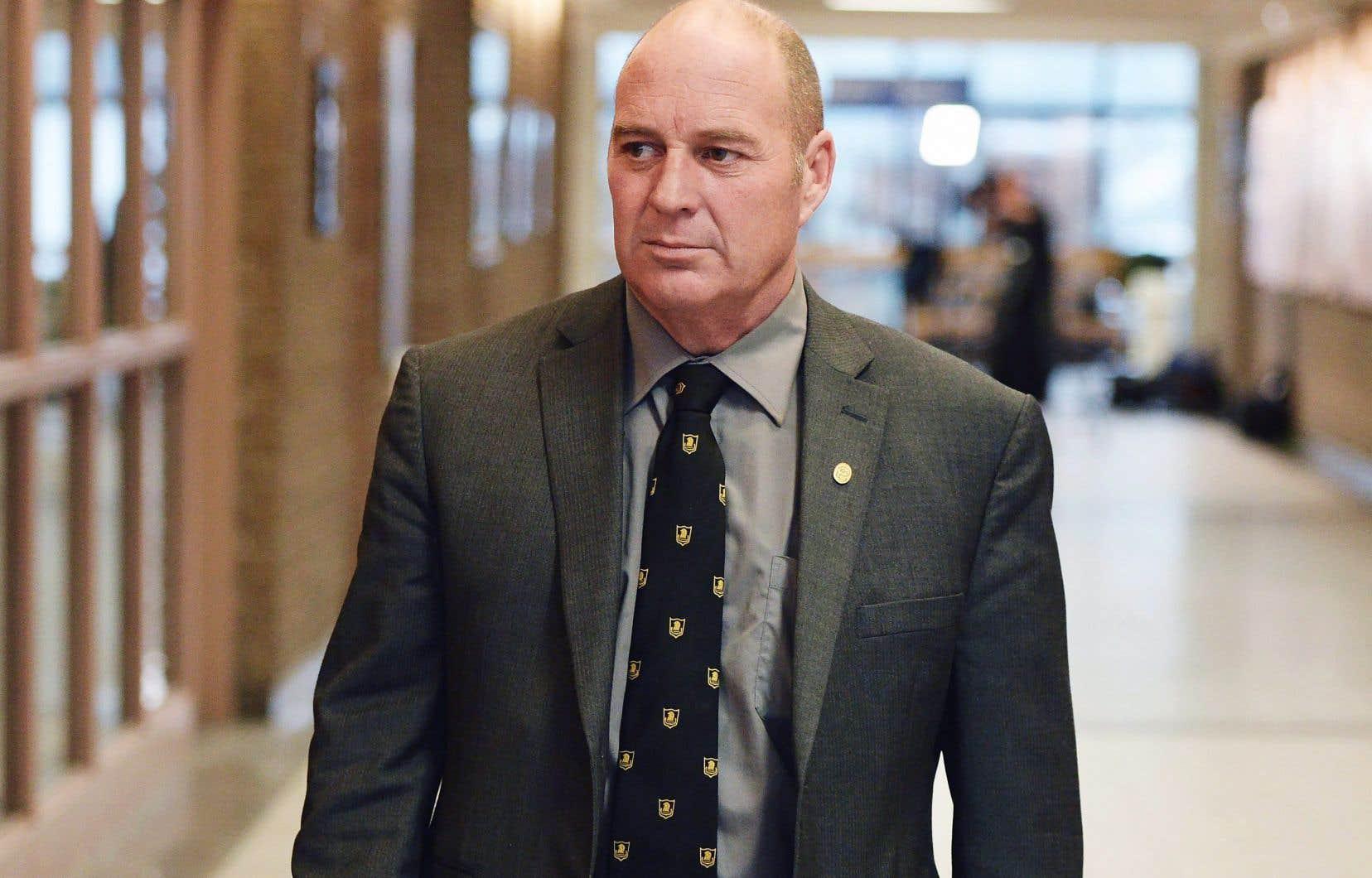 Thomas Harding, à Sherbrooke, le 19 janvier dernier