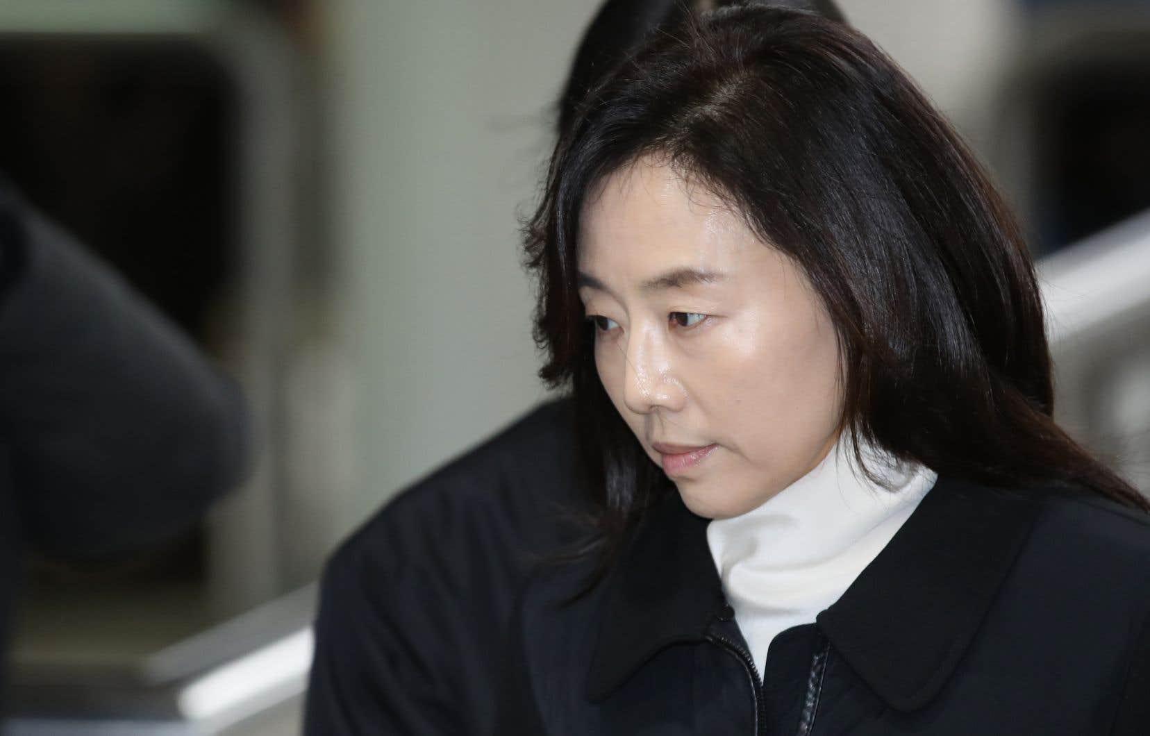 L'ex-ministre sud-coréenne de la Culture Cho Yoon-Sun, mardi à Séoul