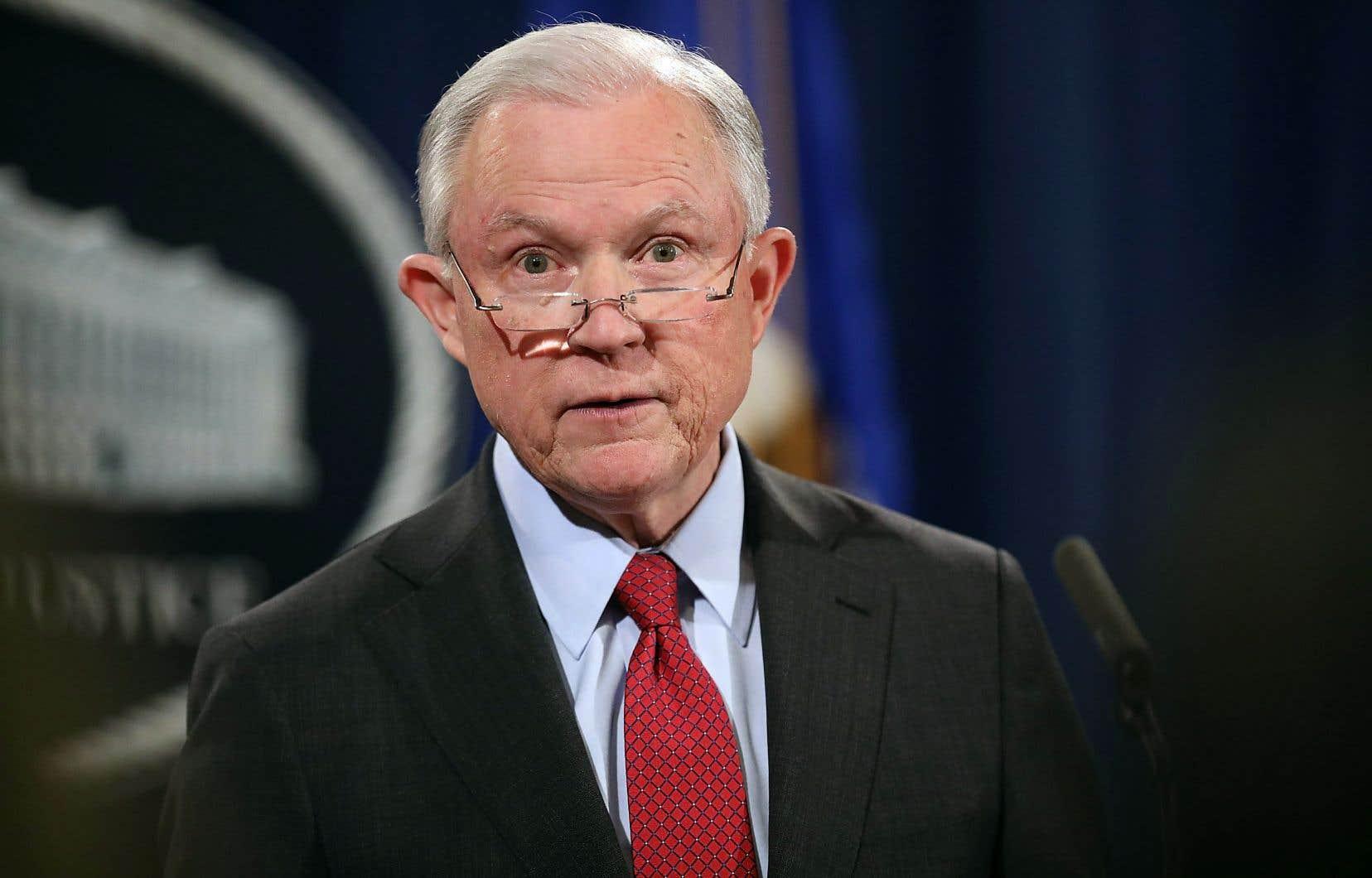 Le ministre américain de la Justice, Jeff Sessions