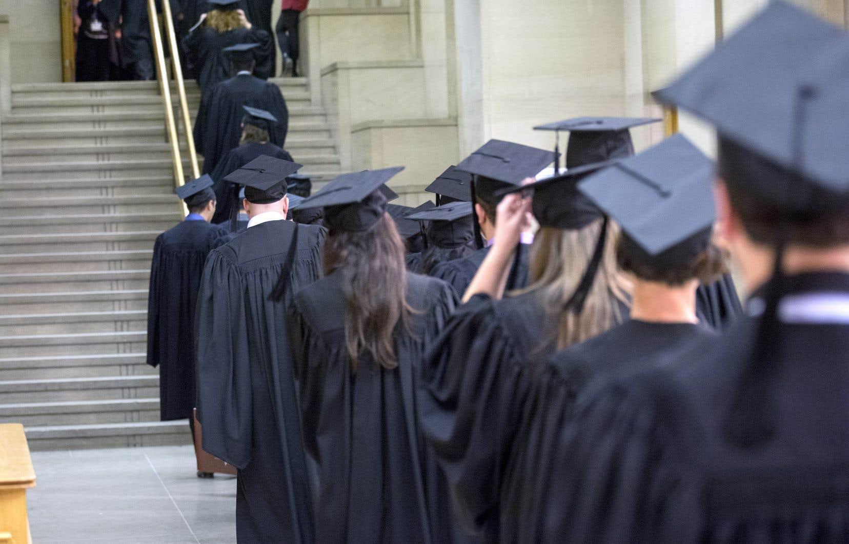 Les Québécois représentent 23,3% de la population canadienne, mais ils ne représentent que 22% des diplômés.