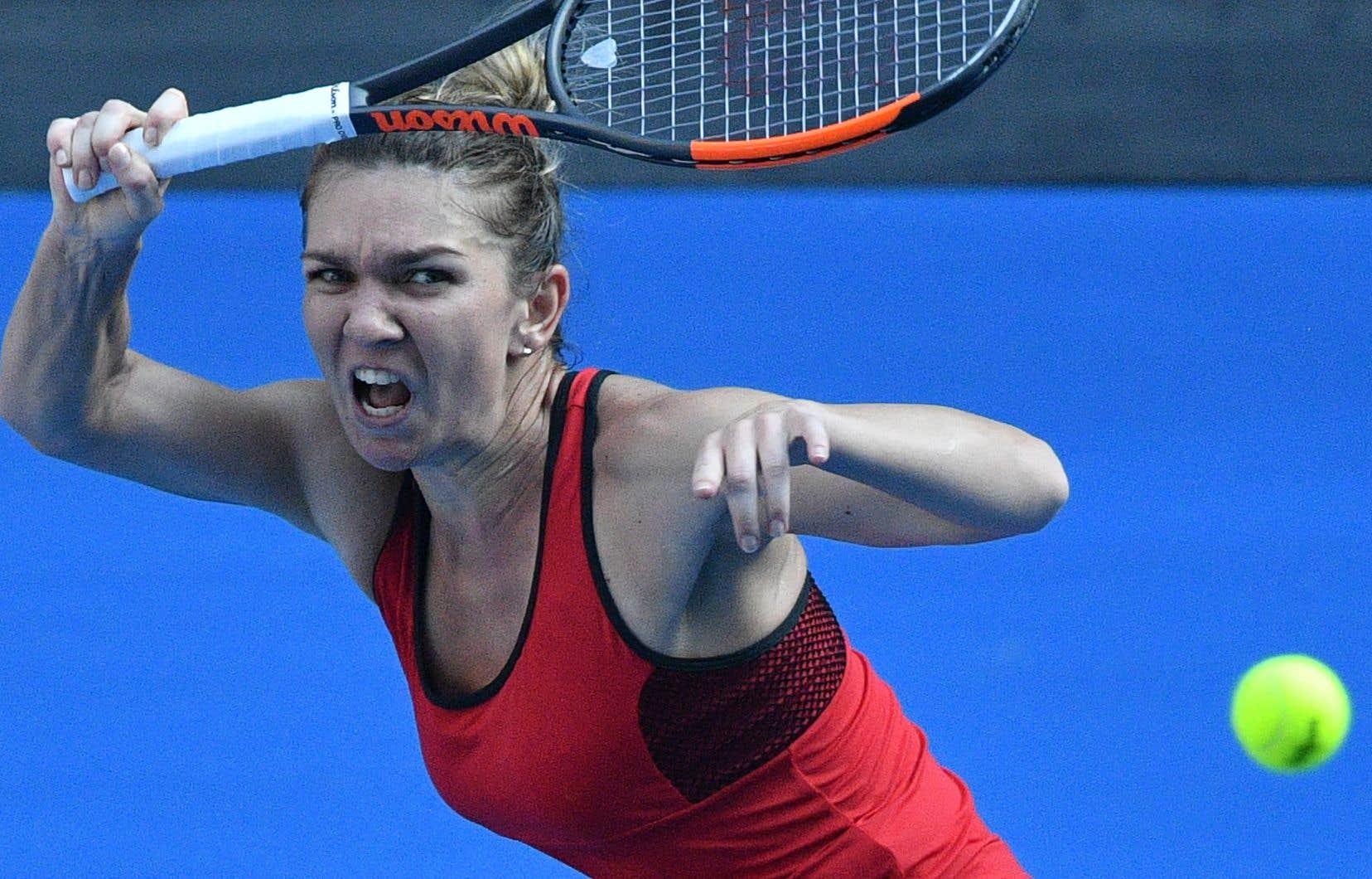 La joueuse Simona Halep lors de son match de demi-finale à Melbourne, jeudi