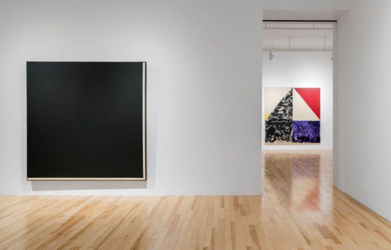 Vue de l'exposition «Richard Mill 1970-1980»