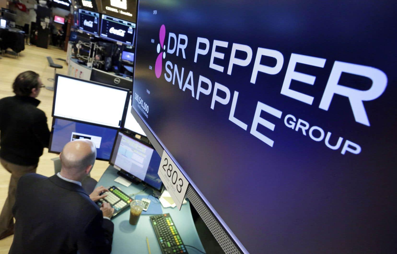 L'acquisition du groupe Dr Pepper par Keurig crée un géant des boissons avec des ventes annuelles de quelque 11 milliards $US.