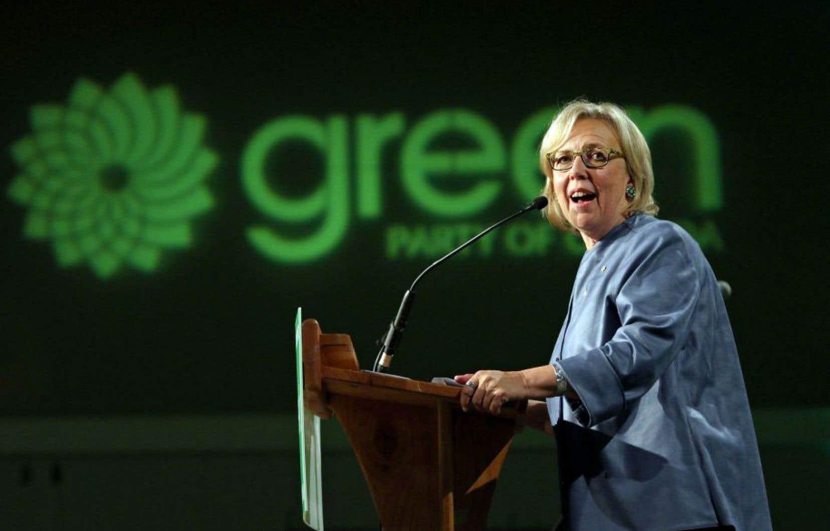 La chef du Parti vert fédéral, Elizabeth May
