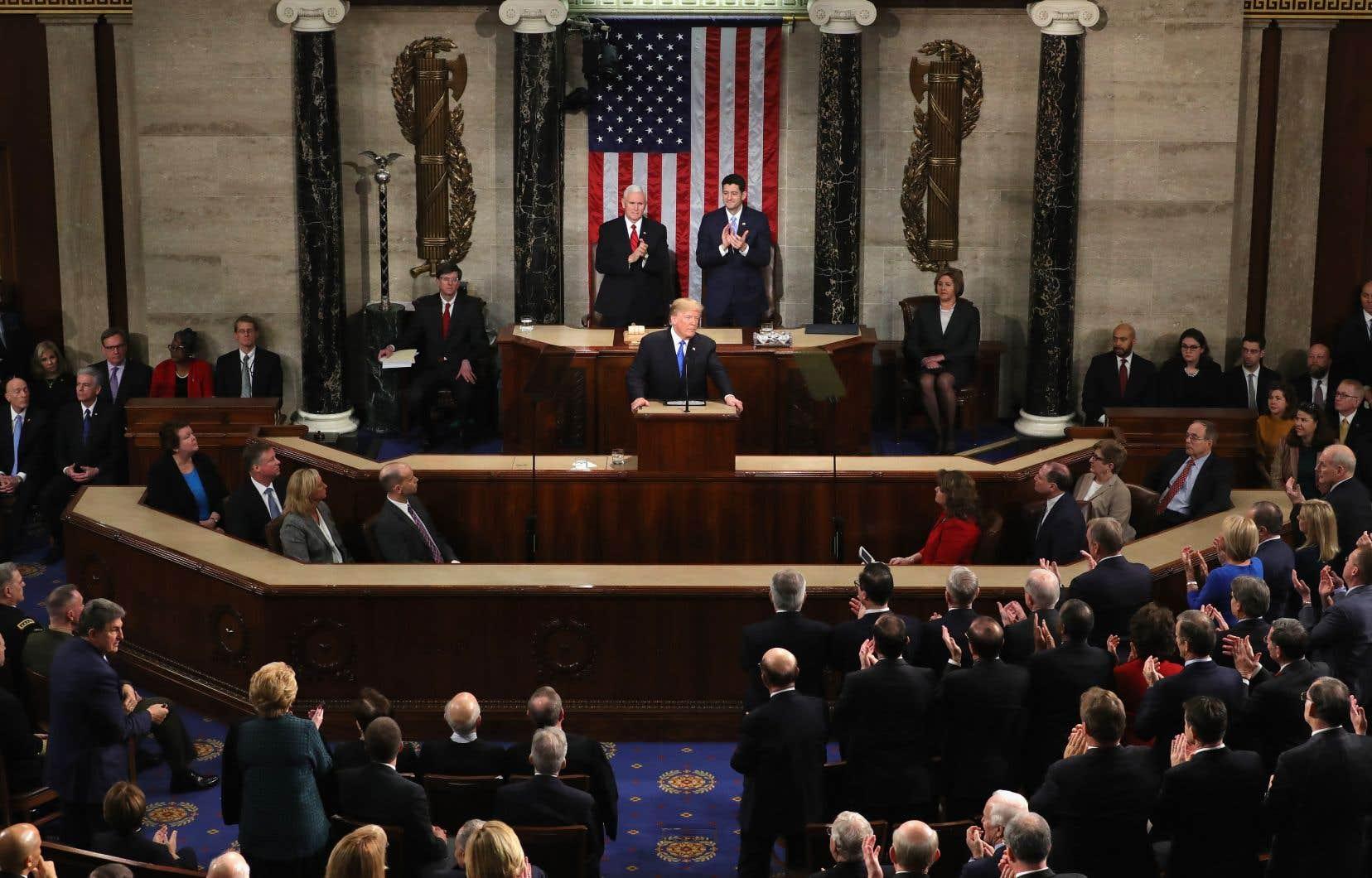 Le discours présidentiel mardi soir au Capitole aurait pu être l'occasion d'un apaisement, le ton général étant d'ailleurs conciliant. Mais, sur le thème de l'immigration, Donald Trump a voulu davantage rassurer sa base la plus conservatrice que faire un pas vers ses opposants.