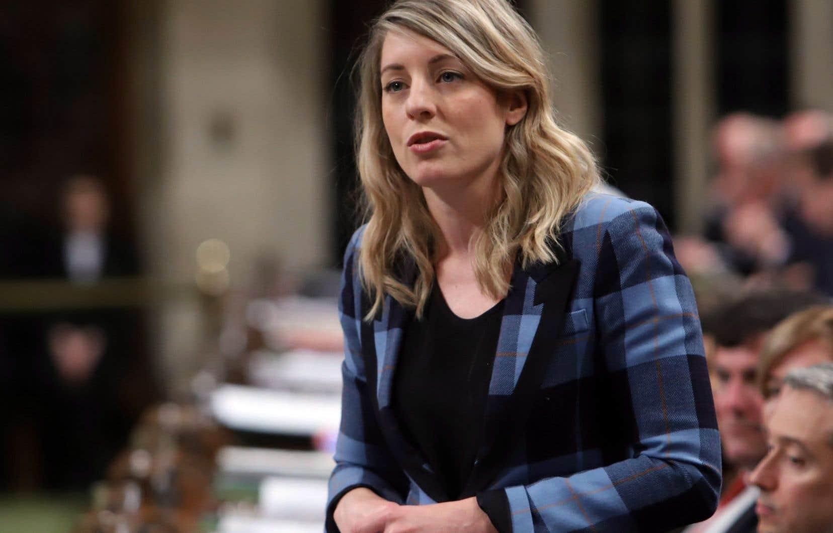 Mélanie Joly, la ministre du Patrimoine canadien