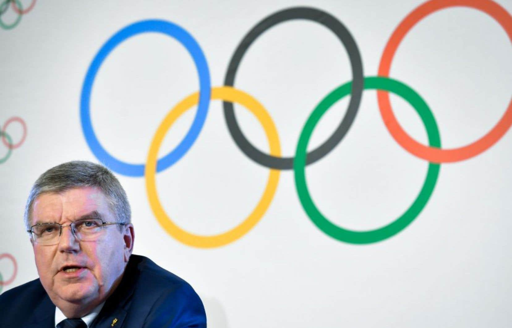 Le président du Comité international olympique, Thomas Bach
