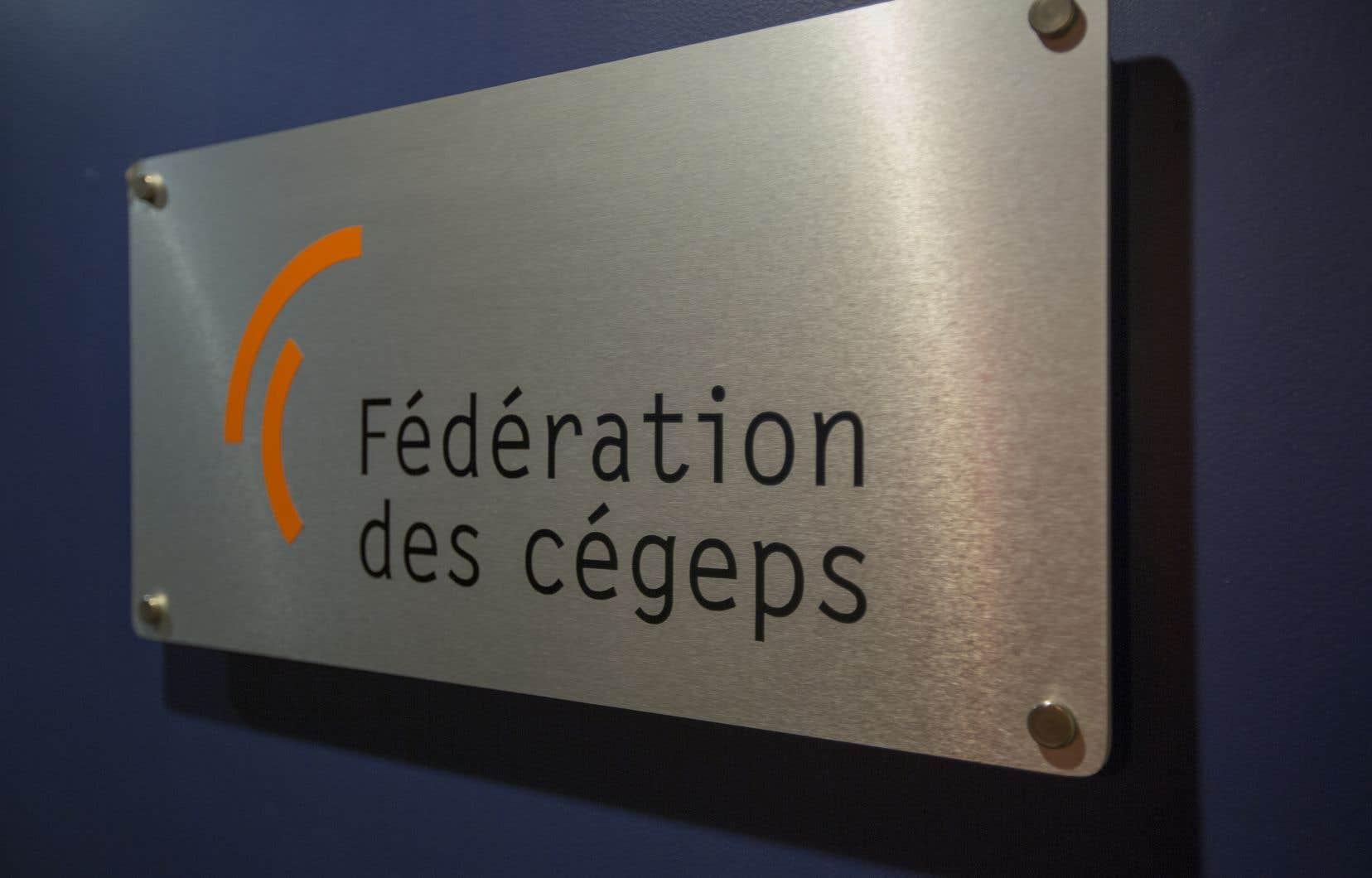 La Fédération des cégeps réclame un financement rétabli à la hauteur qu'il atteignait avant les compressions budgétaires.