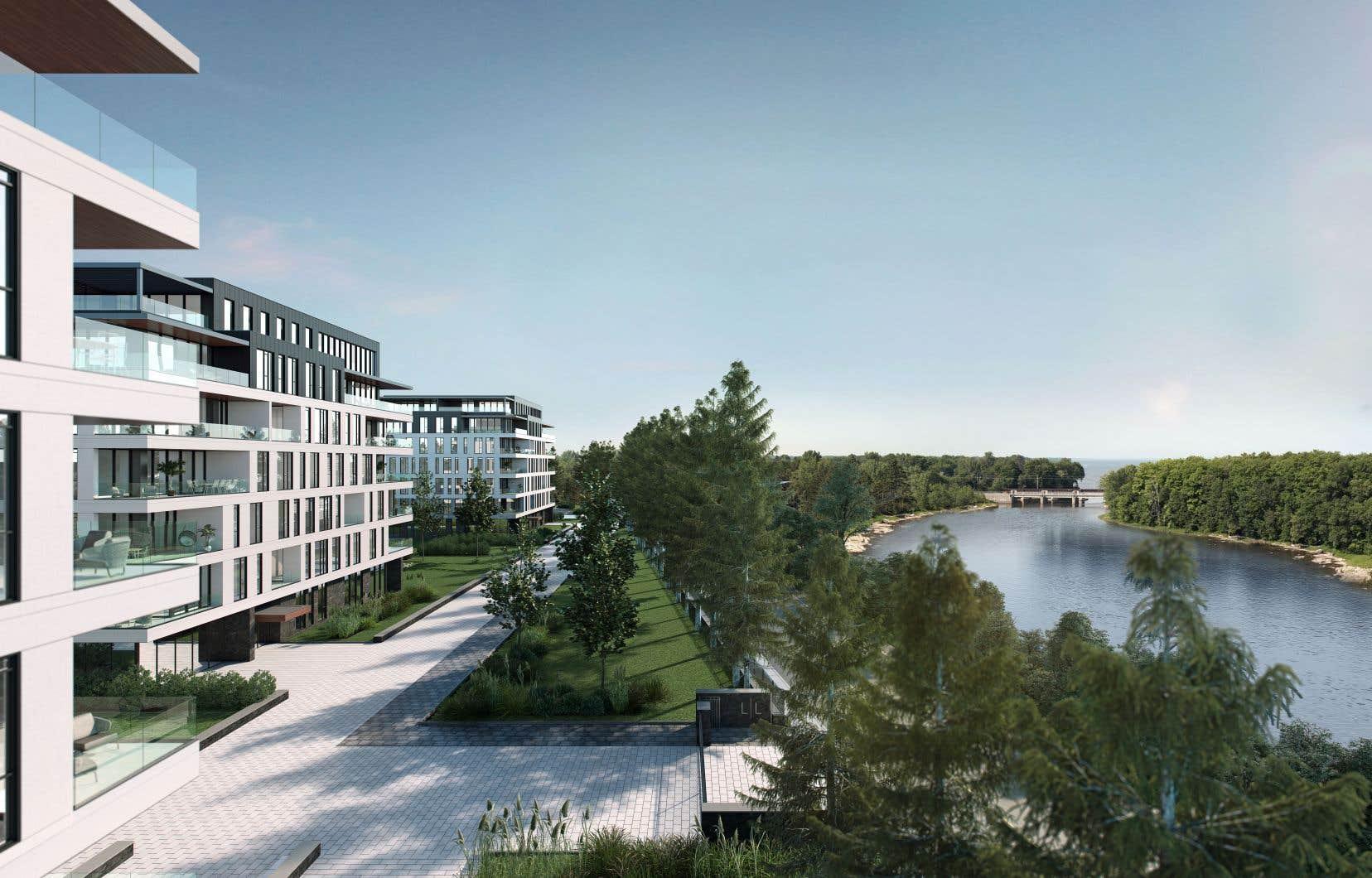 Les quatre bâtiments du projet L L bénéficieront d'un cadre exceptionnel.
