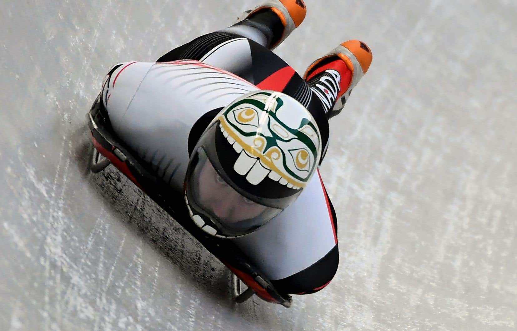 Le Canadien Kevin Boyer s'est entraîné une première fois mercredi sur la piste de skeleton de Pyeongchang.