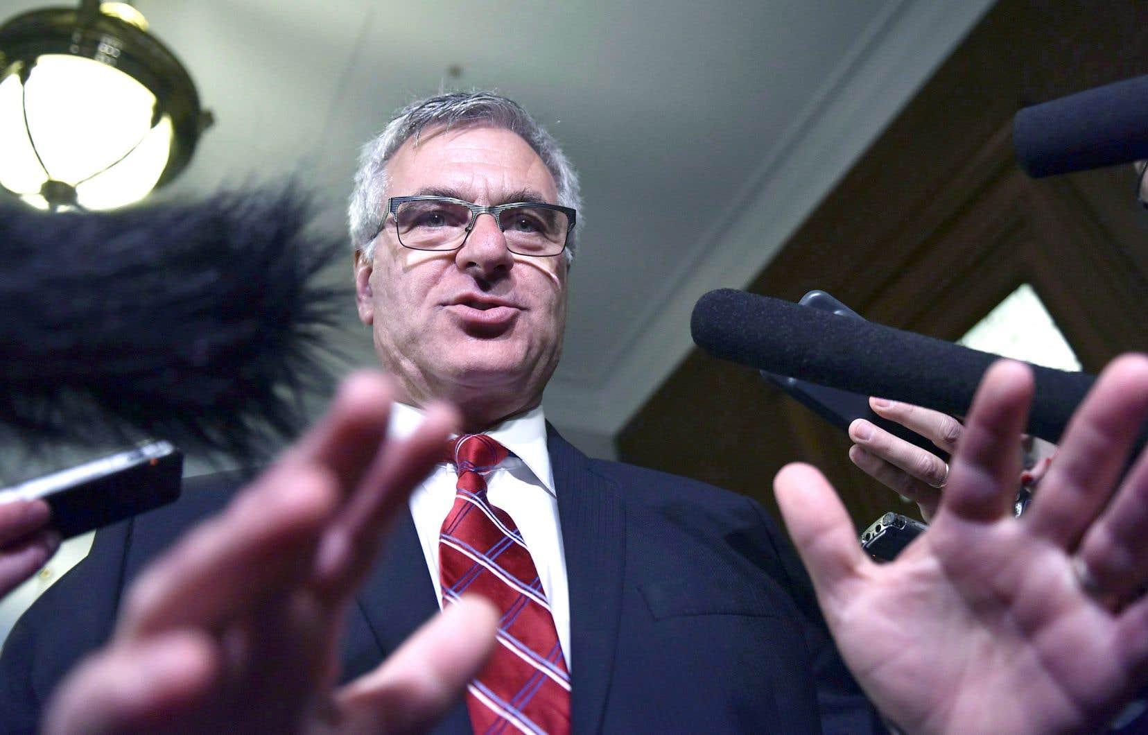 Jean-Marc Fournier a répliqué fermement jeudi à la ministre fédérale de la Justice, Jody Wilson-Raybould.<br />