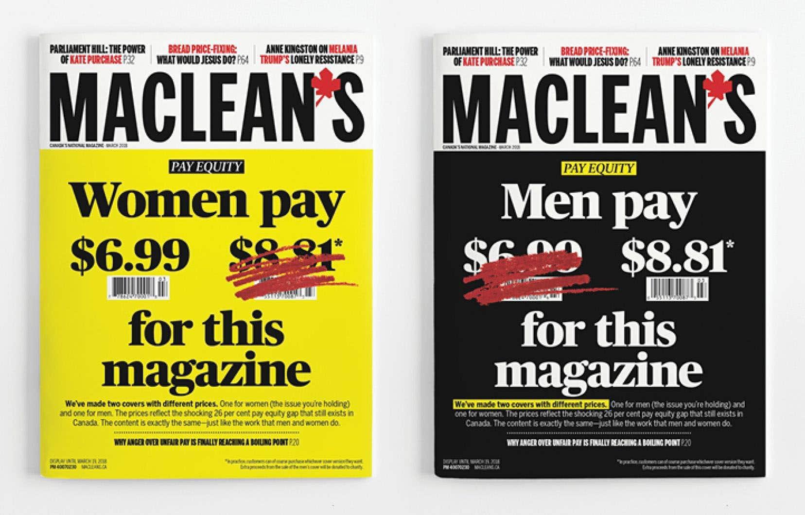 L'exercice, précise le «Maclean's», est laissé à la discrétion du lecteur, qui pourra ou non payer l'écart de 1,82$.