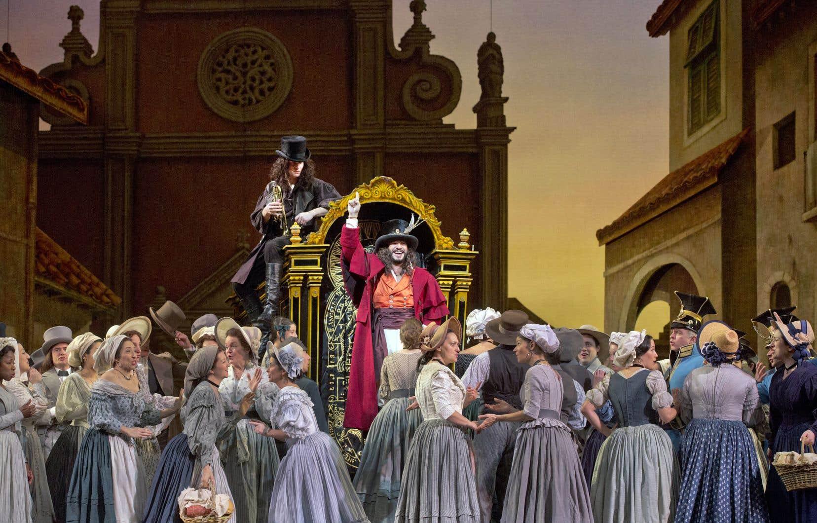 «L'élixir d'amour», de Donizetti, sera rediffusé dans les salles de cinéma les 17, 19 et 21 mars.