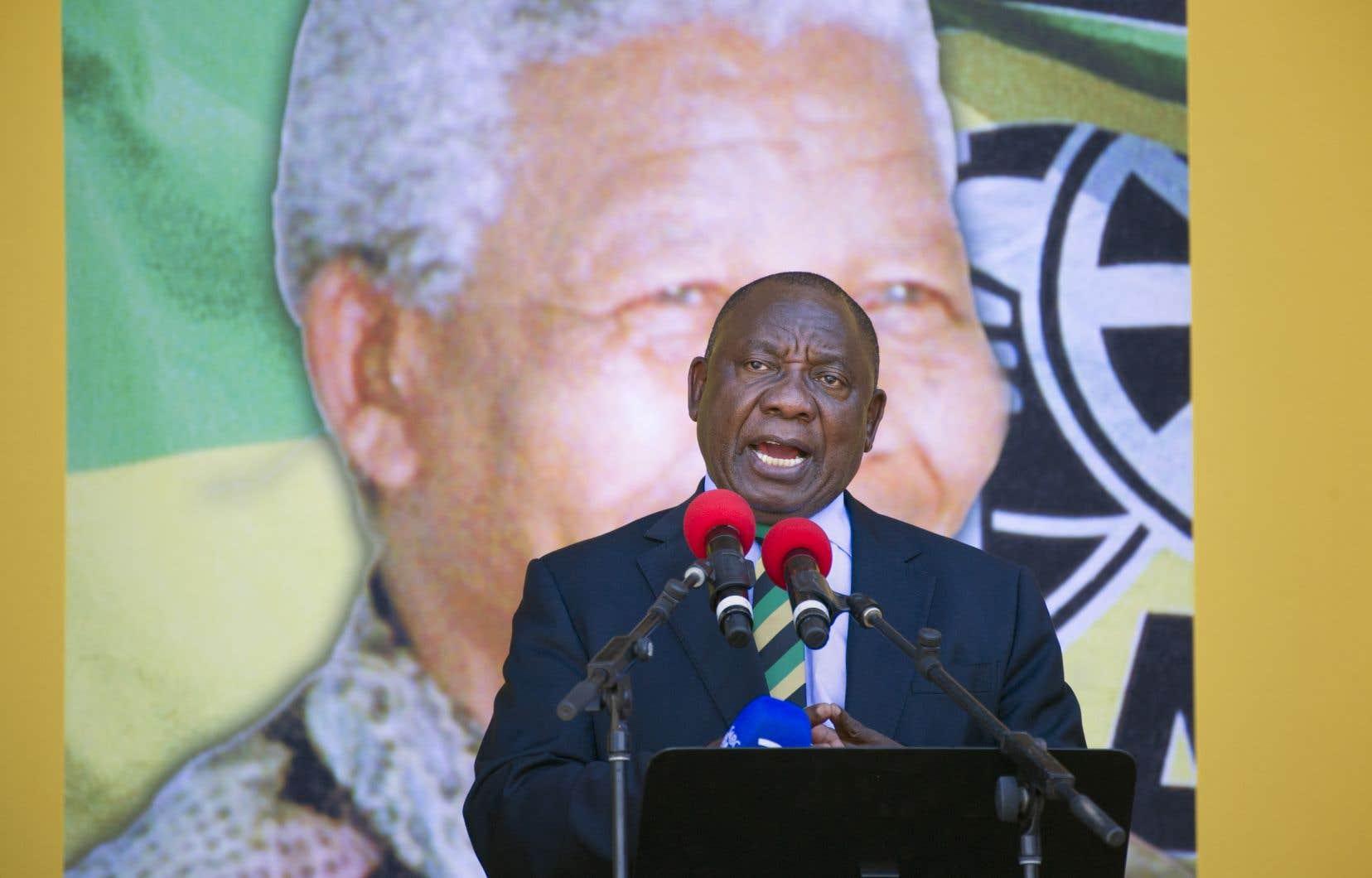 Le vice-président sud-africain et nouveau président élu du Congrès national africain (ANC), Cyril Ramaphosa