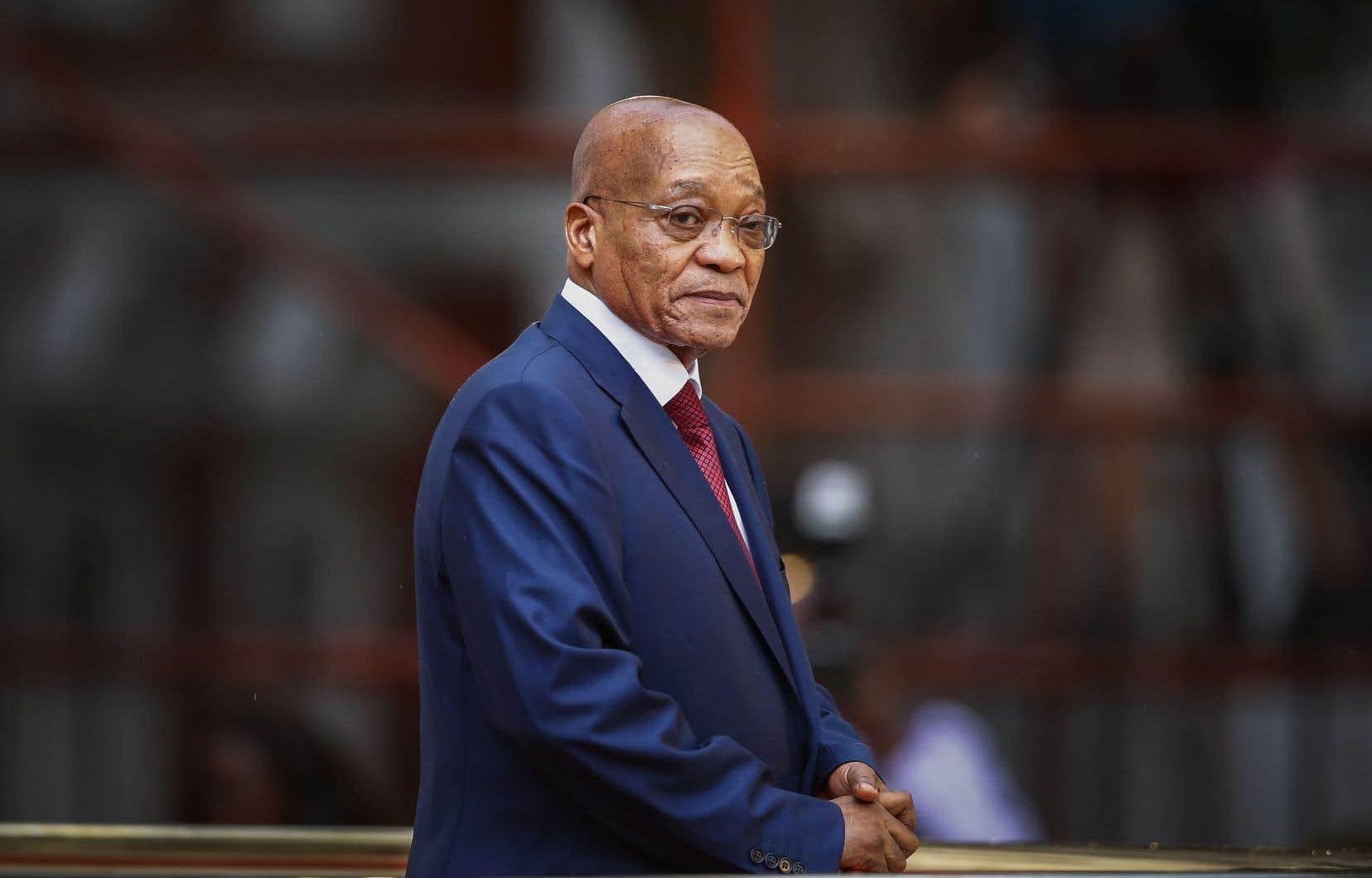 Le président sud-africain photographié en février 2015