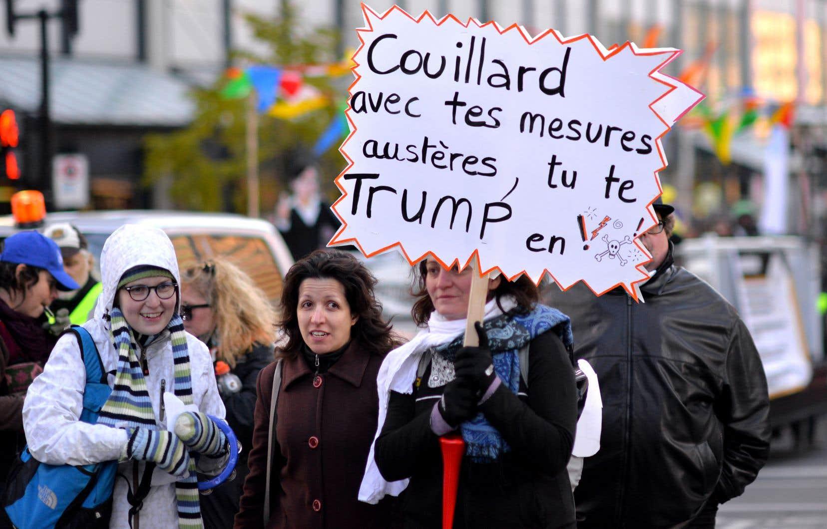 Donald Trump et sa clique incarnent si bien le Mal qu'on en oublie presque l'incroyable violence économique et sociale que les citoyens du Québec ont subie ces dernières années, estime l'auteur.