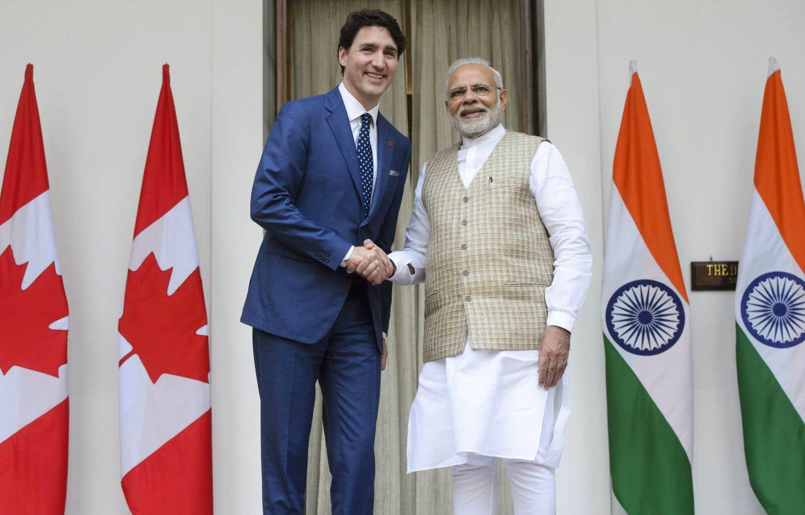Les premiers ministres Trudeau et Modi sont d'accord — Lutte à l'extrémisme