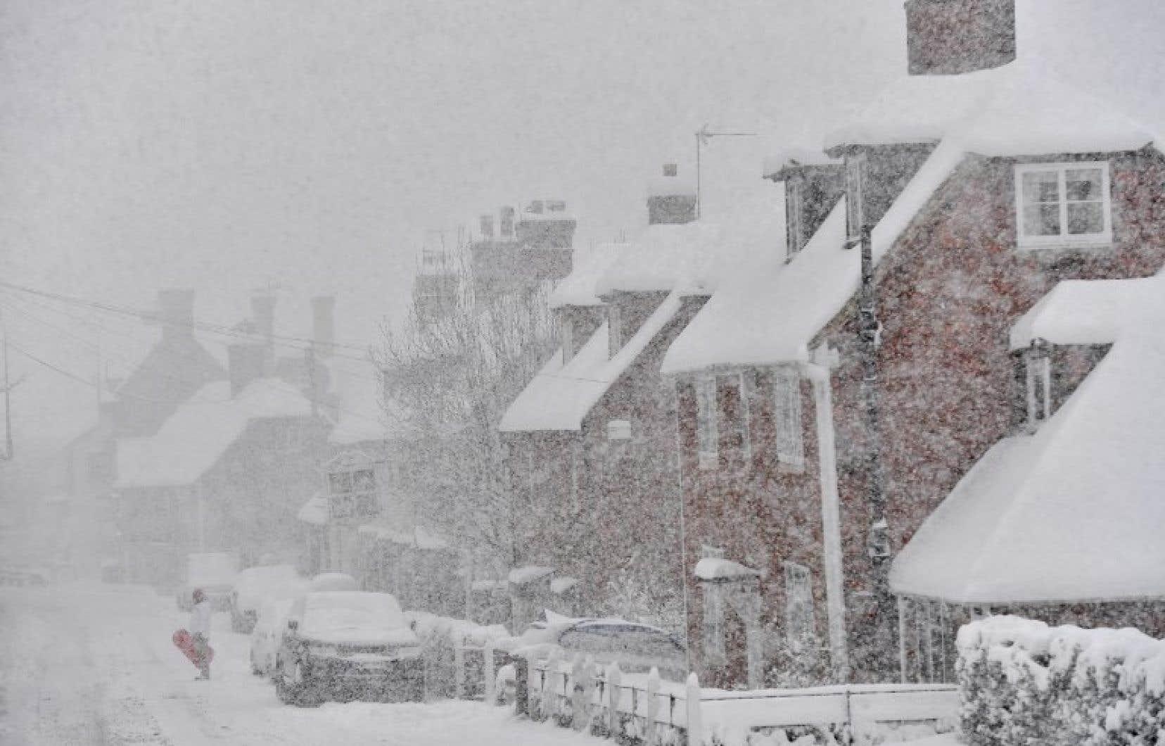 Au Royaume-Uni, 5 à 10cm de neige étaient attendus par endroits.