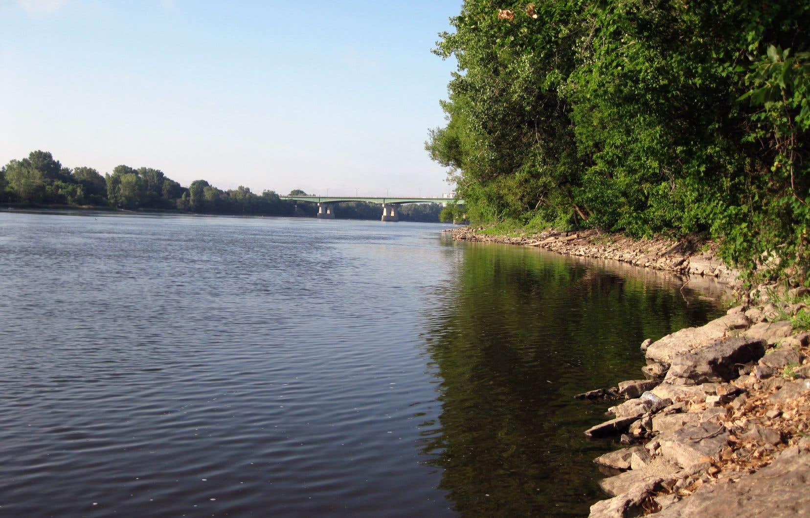 Le pipeline Trans-Nord traverse deux fois la rivière des Prairies, avant de rejoindre l'aéroport de Montréal.