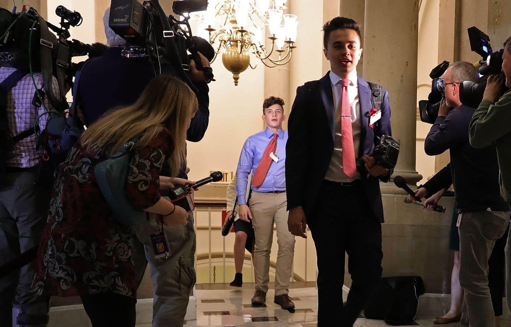 Des élèves de l'école secondaire Marjory Stoneman Douglas rencontraientaujourd'huile président de la Chambre des représentants, le républicain Paul Ryan.