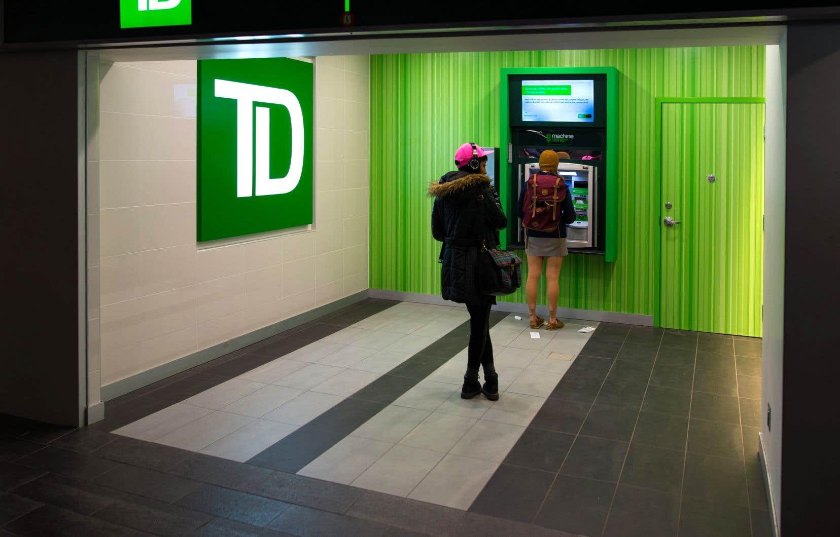La Banque TD a réalisé un bénéfice de 2,35 milliards pour le trimestre clos le 31 janvier, ce qui représentait une baisse de 7% par rapport à la même période un an plus tôt.