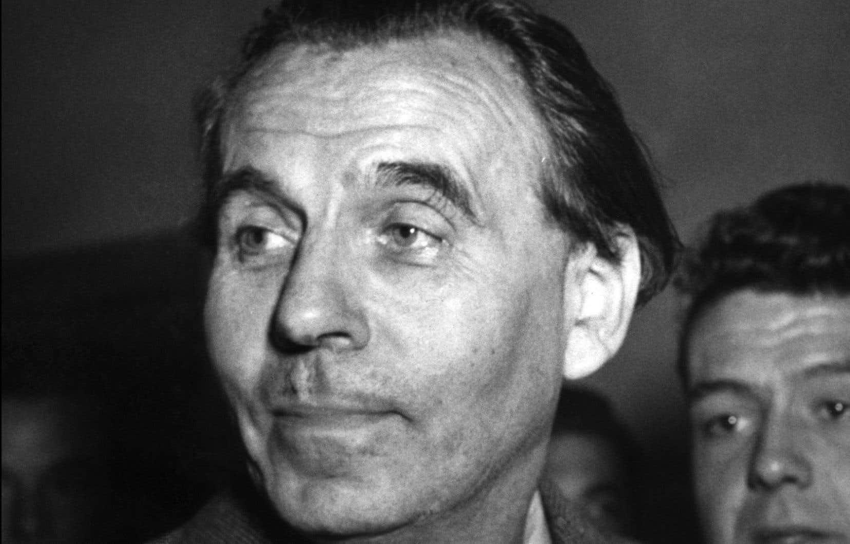 L'écrivain Louis-Ferdinand Céline, à Paris, en octobre 1951