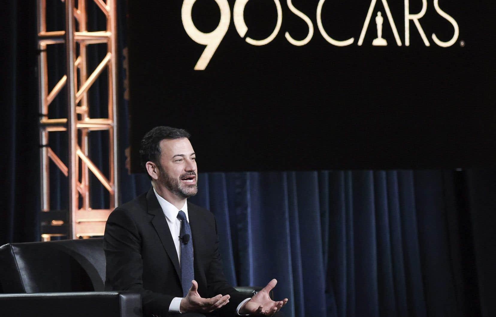 La 90e cérémonie des Oscar est animée par l'humoriste et animateur de télévision américain Jimmy Kimmel.