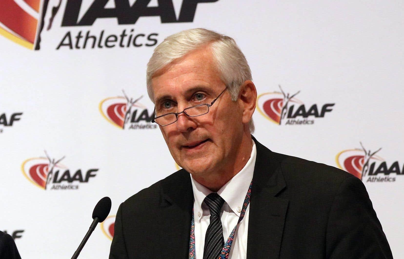 L'expert médical à la Fédération internationale d'athlétisme, Rune Andersen