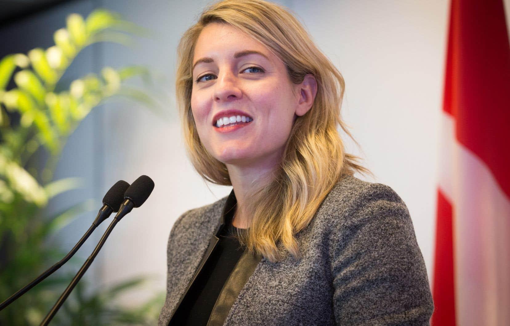 «On doit avoir, et on va avoir, une discussion sur la fiscalité des géants du Web», a indiqué la ministre du Patrimoine canadien, Mélanie Joly.