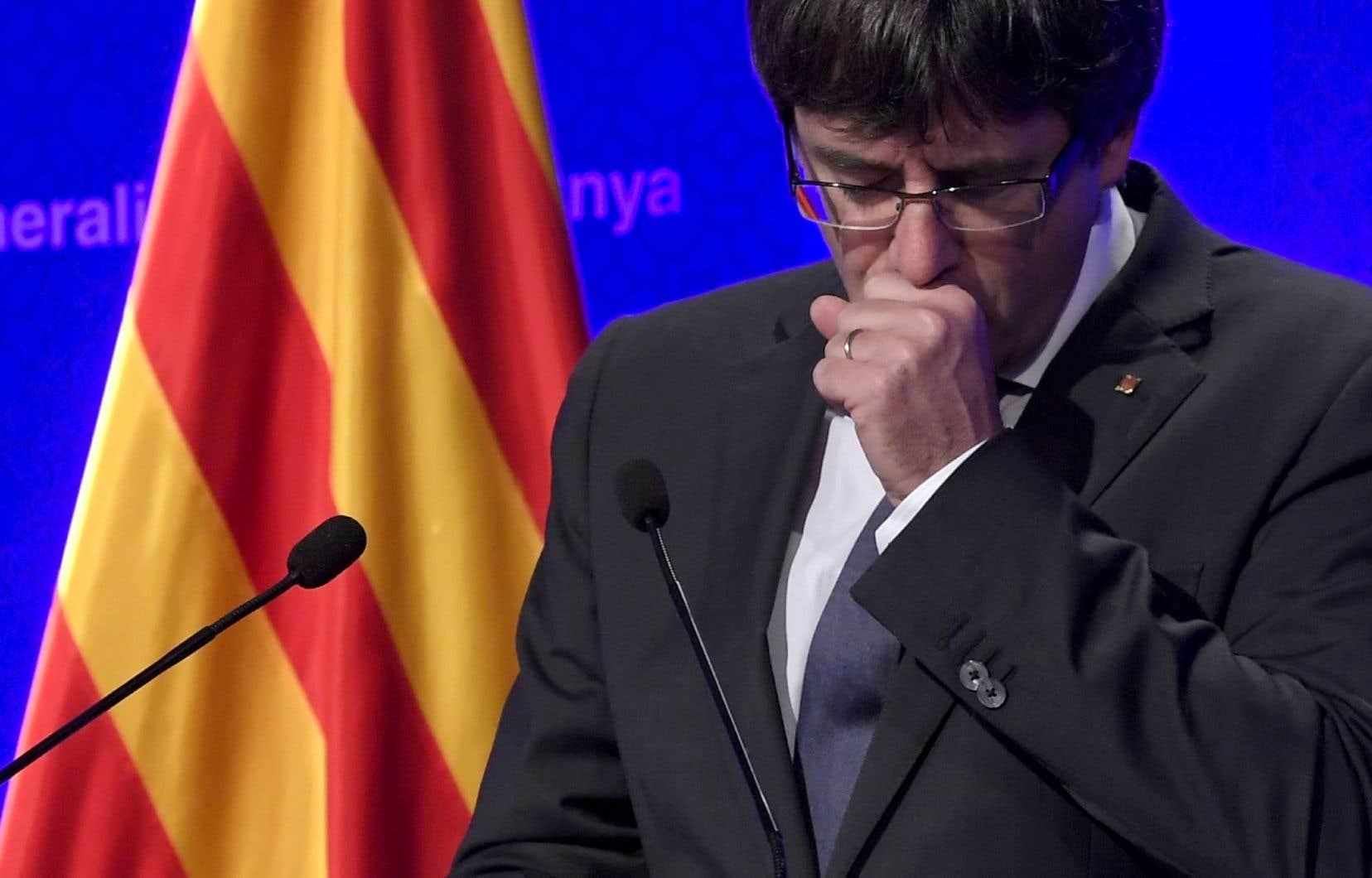 Le président destitué Carles Puigdemont s'est exilé en Belgique après la déclaration d'indépendance avortée du 27 octobre.