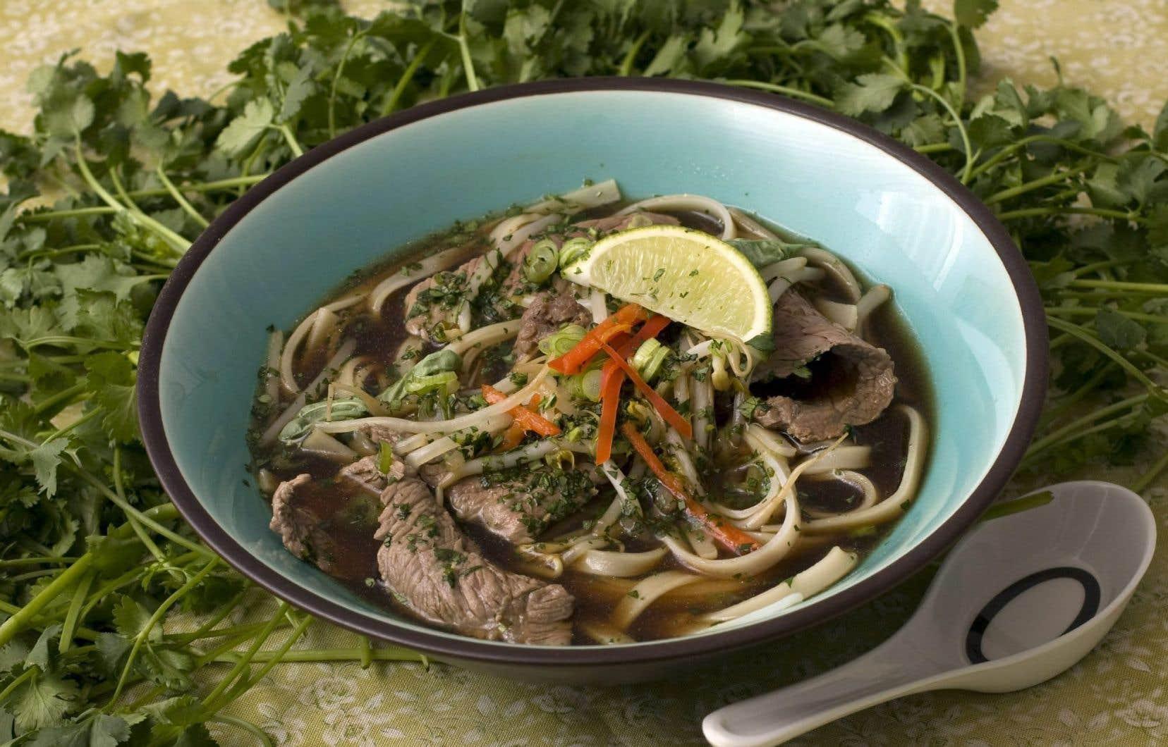 La soupe tonkinoise, spécialité vietnamienne si réconfortante, se prête à toutes sortes d'interprétations.