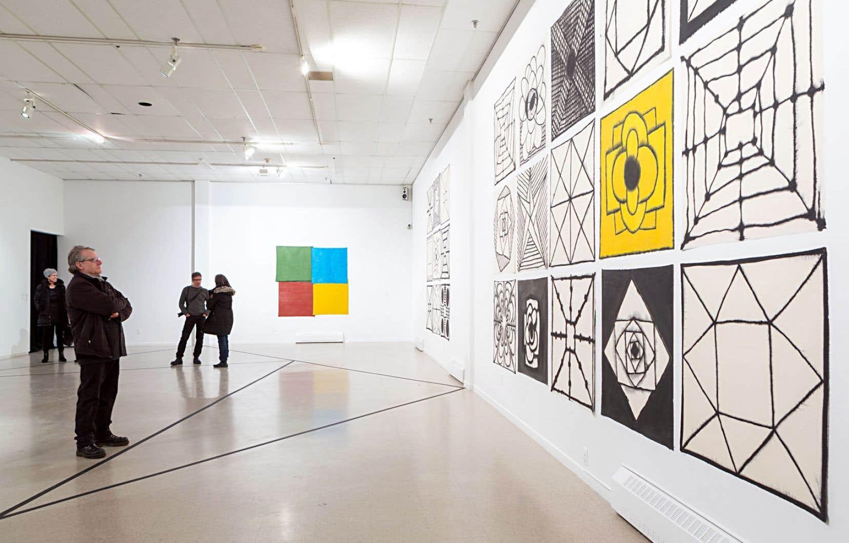 Pour son exposition au Musée d'art contemporain des Laurentides, l'accent a été mis sur d'autres formes d'expression de Marie-Claude Bouthillier.