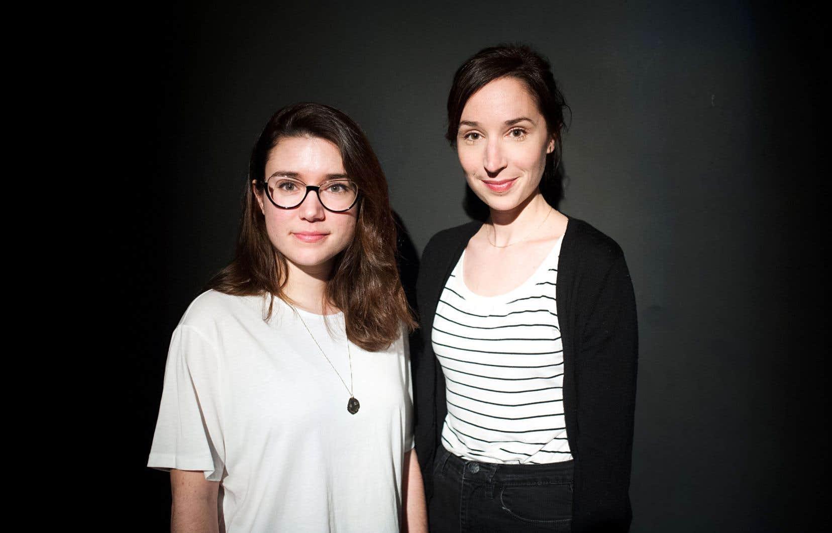 Marie-Ève Milot et Marie-Claude St-Laurent se sont «trouvées» durant leur formation théâtrale et partagent depuis une relation artistique privilégiée.