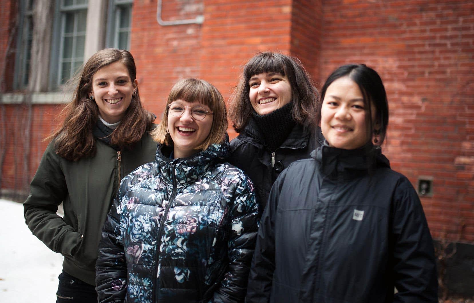 Les quatre organisatrices du festival: Coppélia LaRoche-Francœur, Gabrielle Doré, Soline Asselin et Anne-Julie Beaudin