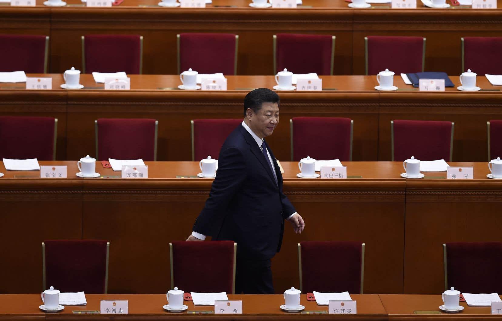 Le président Xi Jinping, dimanche, à Pékin