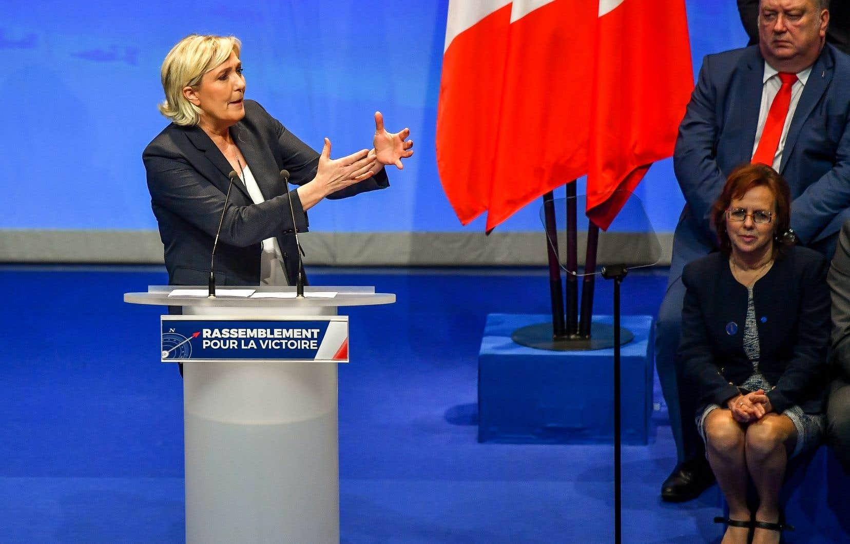 Dans son discours de clôture, Marine Le Pen a tenté de s'imposer en tant qu'opposante principale au président Macron.